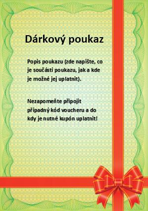 vzor poukázky k narozeninám Šablony dárkových poukazů ke stažení | Dejpoukaz.cz vzor poukázky k narozeninám